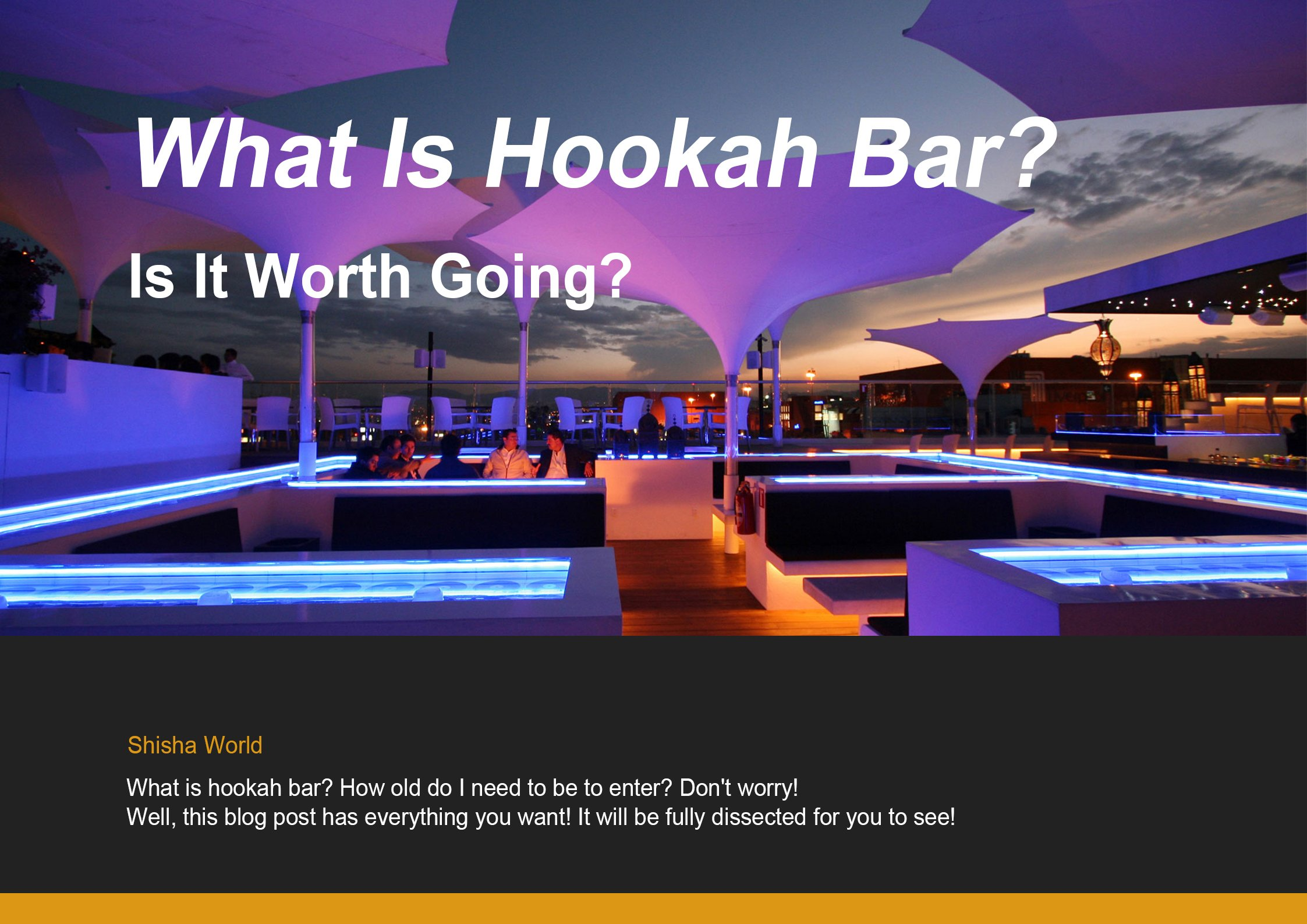 What Is Hookah Bar Cover